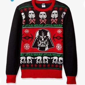 STAR WARS Men's Sithmas Ugly Chirstmas Sweater XXL